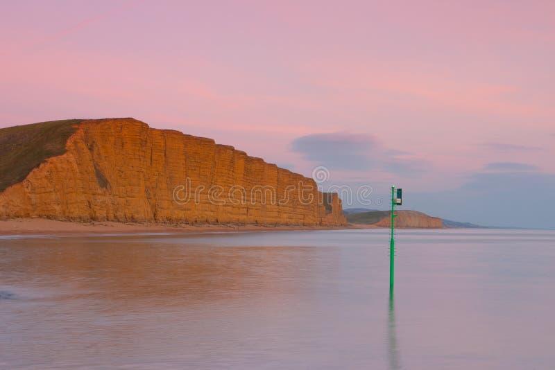 Popular beach near Bridport, Dorset, England,. United Kingdom. Used for TV show Broadchurch starring David Tennant and Olivia Colman stock image