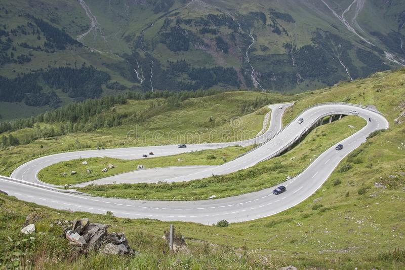 Drive on the Großglockner High Alpine Road royalty free stock photography