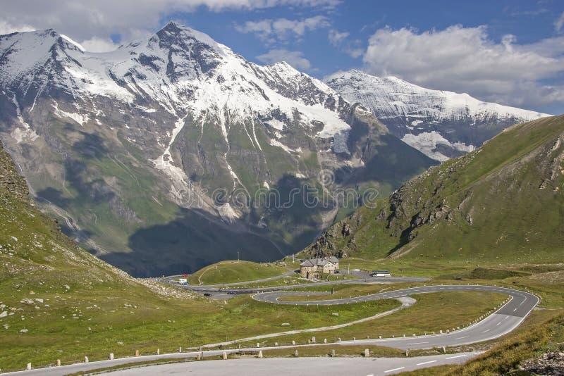 Drive on the Großglockner High Alpine Road royalty free stock photos