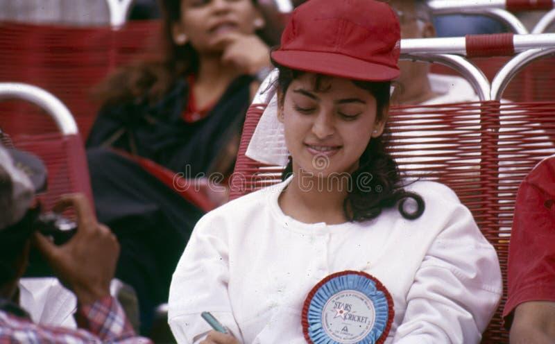 Popular Hindi Filmschauspielerin Juhi Chawla lizenzfreie stockbilder