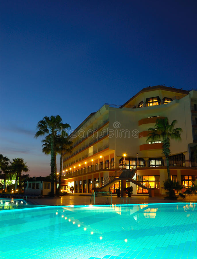Download Popular Hotel In Night Illumination Stock Photo - Image: 13119112