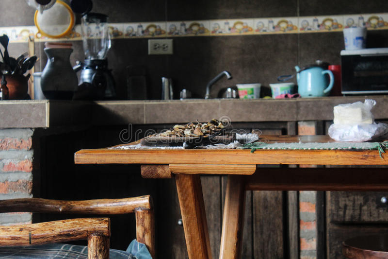 Popular kitchen. Kitchen own characteristics in people of Venezuela royalty free stock photography
