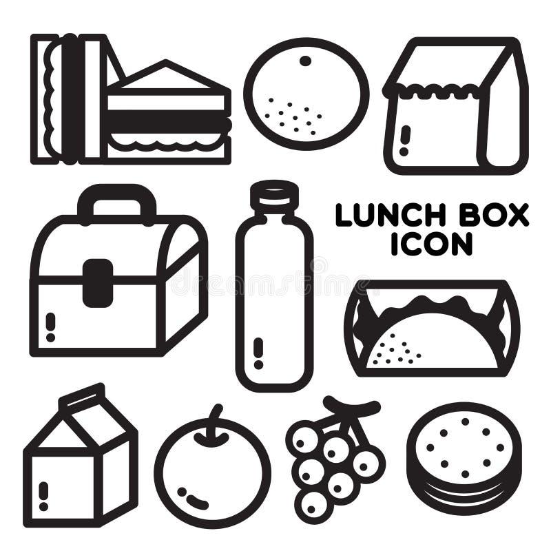 LUNCH BOX ICON royalty free illustration
