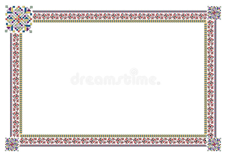Popular motif, pattern, regular motif, tablecloth. Regular popular motifs. Can be used as carpet or tablecloth or a background for events stock image