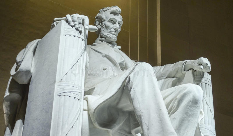 Popular Place in Wahington DC - The Lincoln Memorial royalty free stock photo