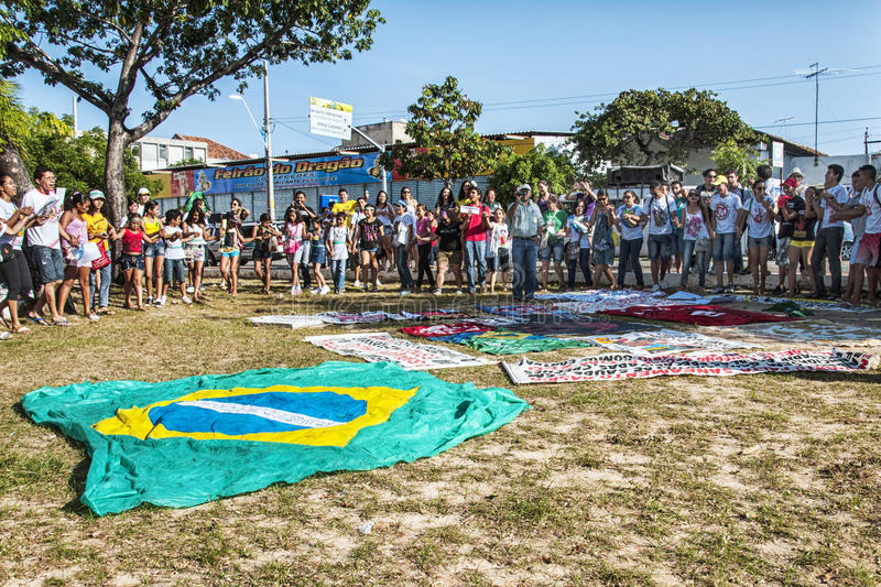Popular Protest On The Day Of The Independence Of Brazil Editorial Image