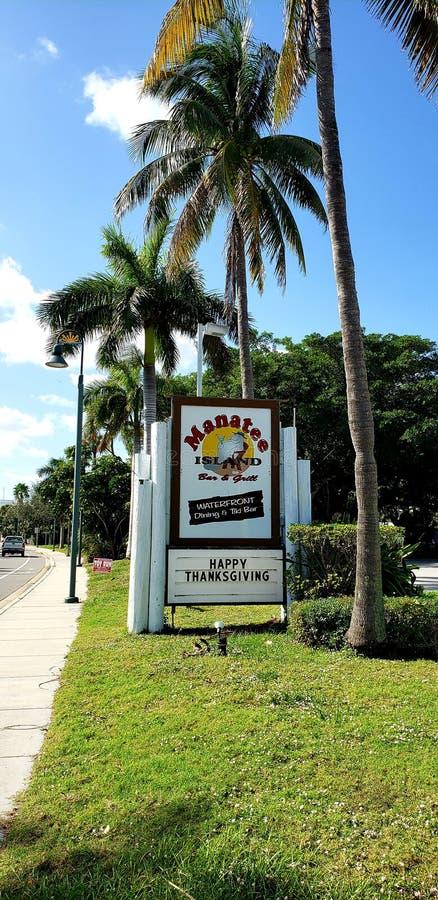 Manatee Island Fort Pierce. Popular Restaurant and bar in Hutchinson Island, Florida royalty free stock photos
