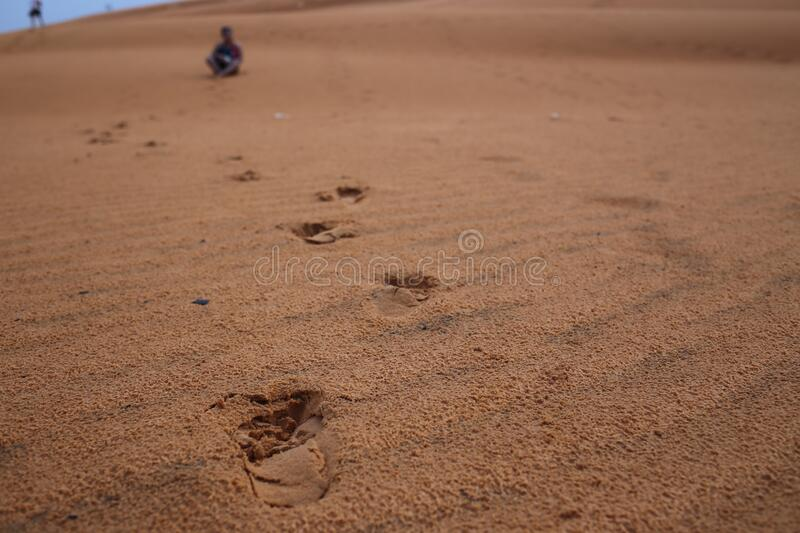 Sand Dunes in Mui Ne royalty free stock photography