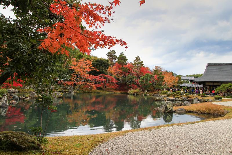 Popular Tenryuji Temple, Kyoto, Japan royalty free stock image