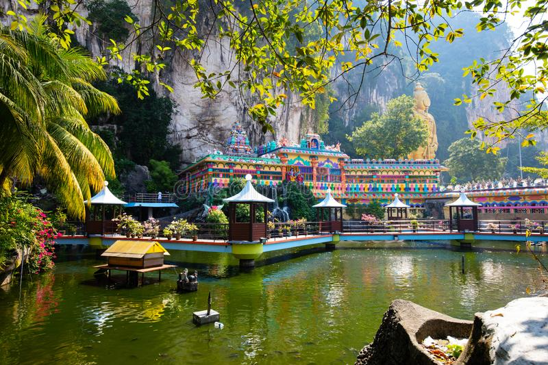 Batu Caves Malaysia. The popular tourist attraction of Batu Caves which are sacred Hindi limestone caves near Kuala Lumpur, Malaysia stock images