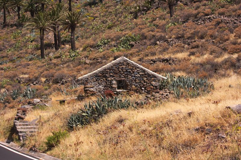 Popular traditional architecture from the center and south of La Gomera. Example of a house that represents the traditional folk architecture of La Gomera stock photos
