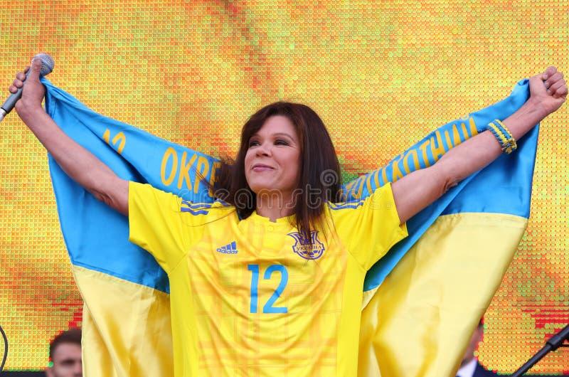 Popular Ukrainian singer Ruslana stock photography
