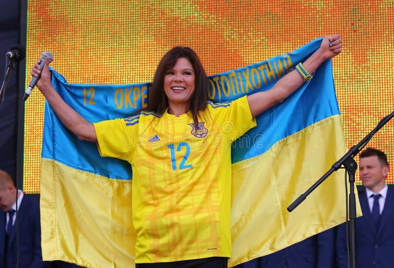 Popular Ukrainian singer Ruslana royalty free stock photo