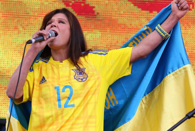 Popular Ukrainian singer Ruslana royalty free stock photos