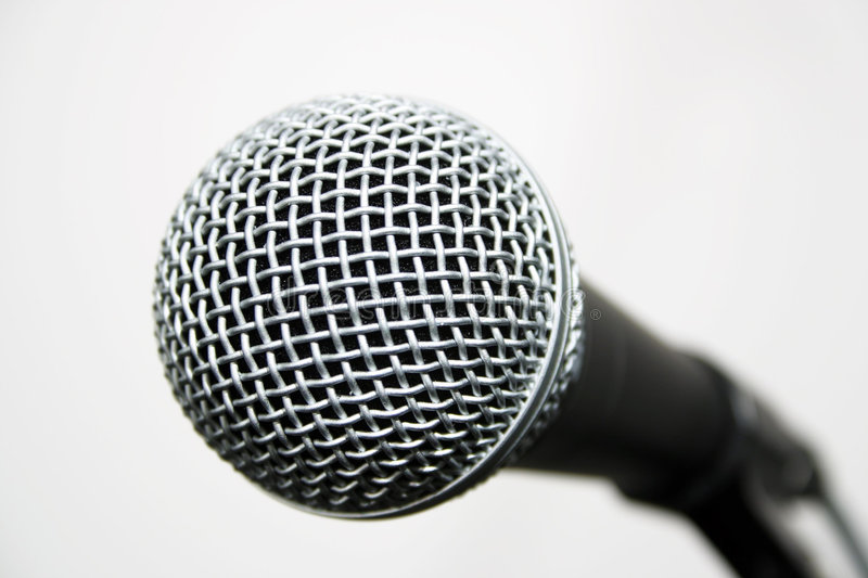 Popular Vocalist Microphone royalty free stock image