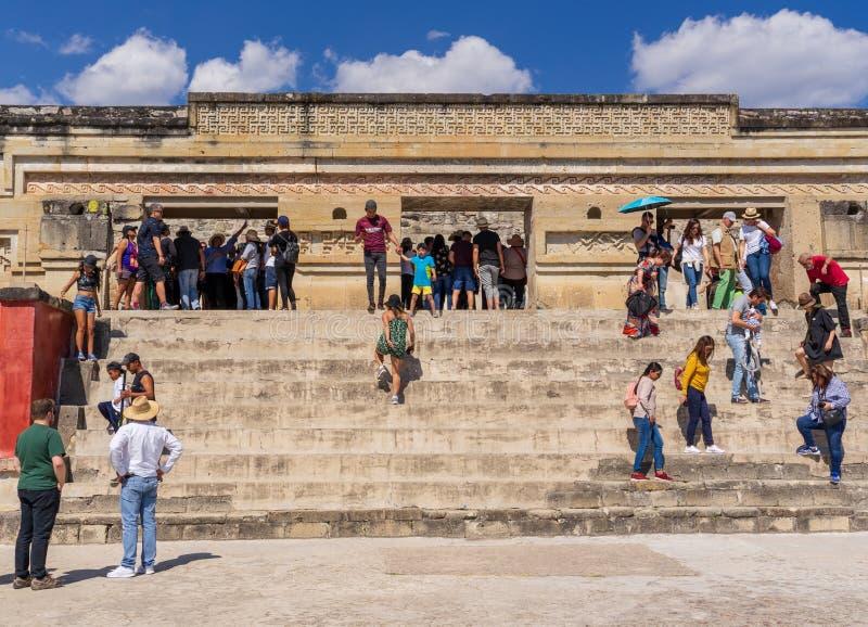 Popularidade das ruínas de Mitla em México fotografia de stock royalty free