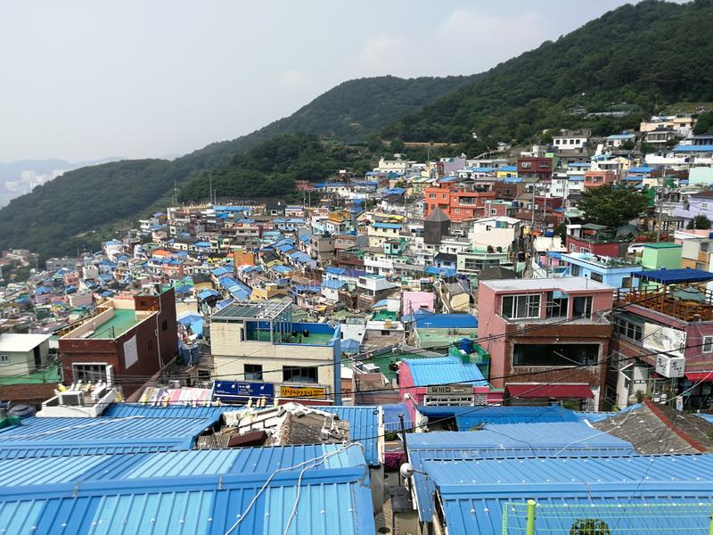 Gamcheon Cultural Village, Busan. Popularly known as the Santorini of Korea, Gamcheon cultural village is the most colorful village you would have ever seen. It royalty free stock photography
