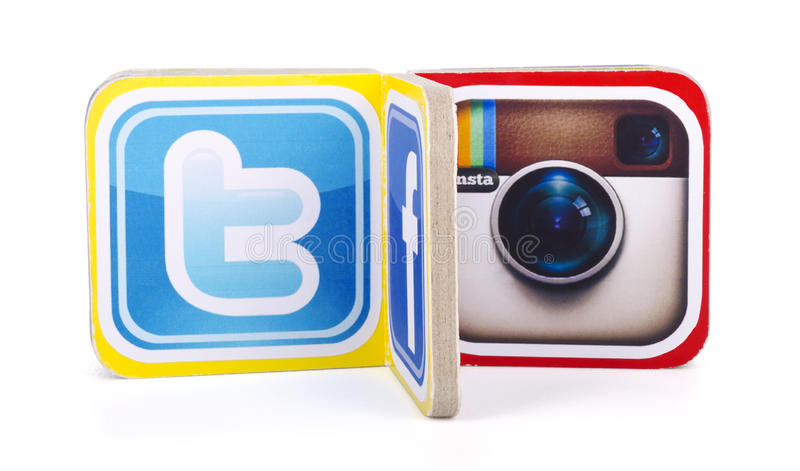 popularni ogólnospołeczni medialni logowie obrazy stock