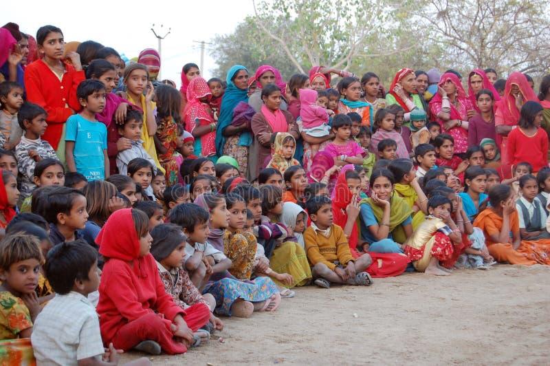 Population rurale indienne image stock