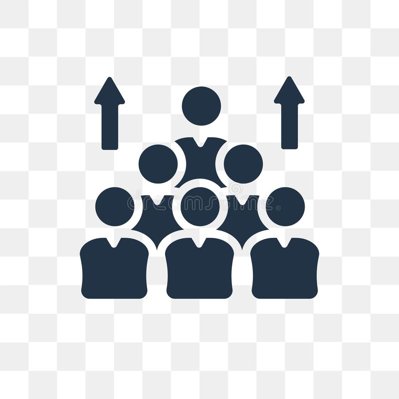 Population vector icon isolated on transparent background, Population transparency concept can be used web and mobile. Population icon stock illustration