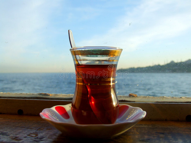 populer turecka herbata zdjęcia stock