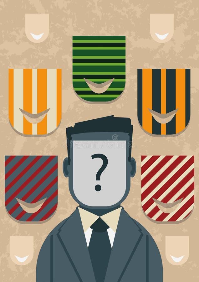 populism Ska vilken `-framsida` vara nästa? stock illustrationer