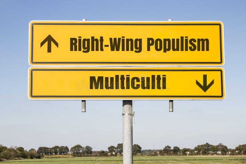 Populisme de droite  images libres de droits