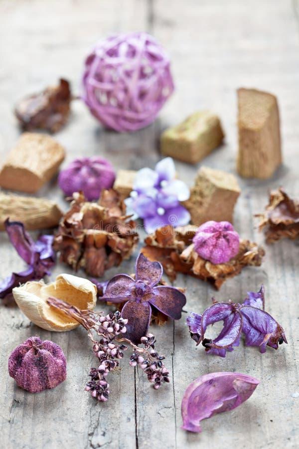 Popurrí usado para el aromatherapy imágenes de archivo libres de regalías