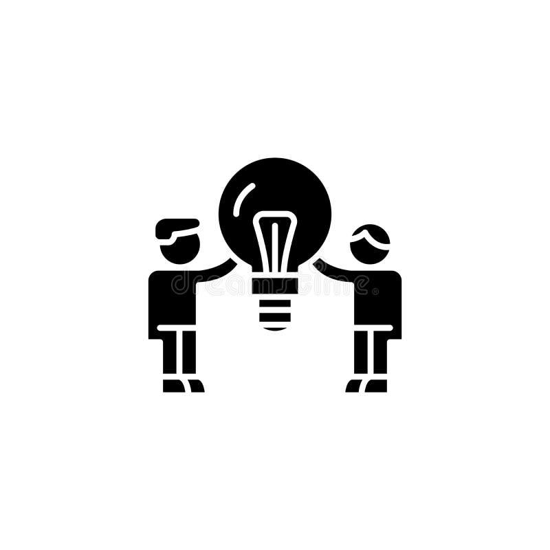 Popyt konsumencki ikony czarny pojęcie Popytu konsumenckiego płaski wektorowy symbol, znak, ilustracja ilustracja wektor