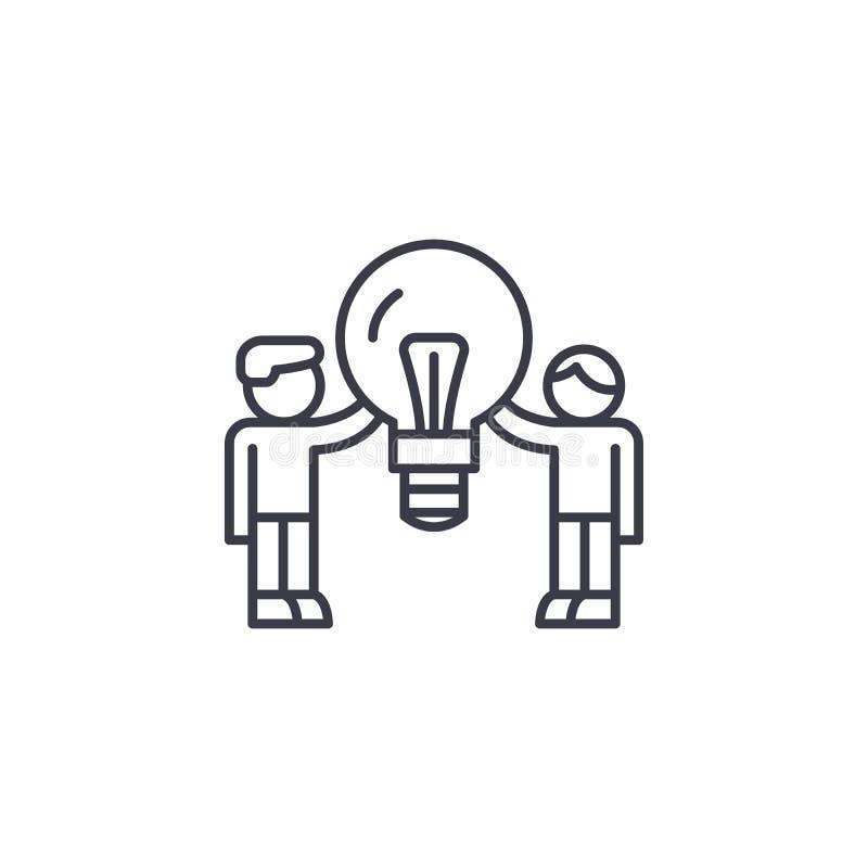 Popyt konsumencki ikony liniowy pojęcie Popytu konsumenckiego wektoru kreskowy znak, symbol, ilustracja ilustracji