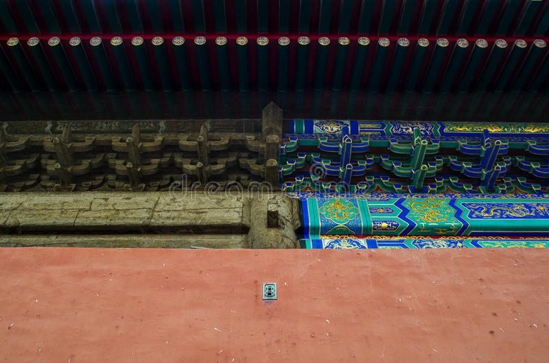 Porównanie chiński budynek obrazy stock