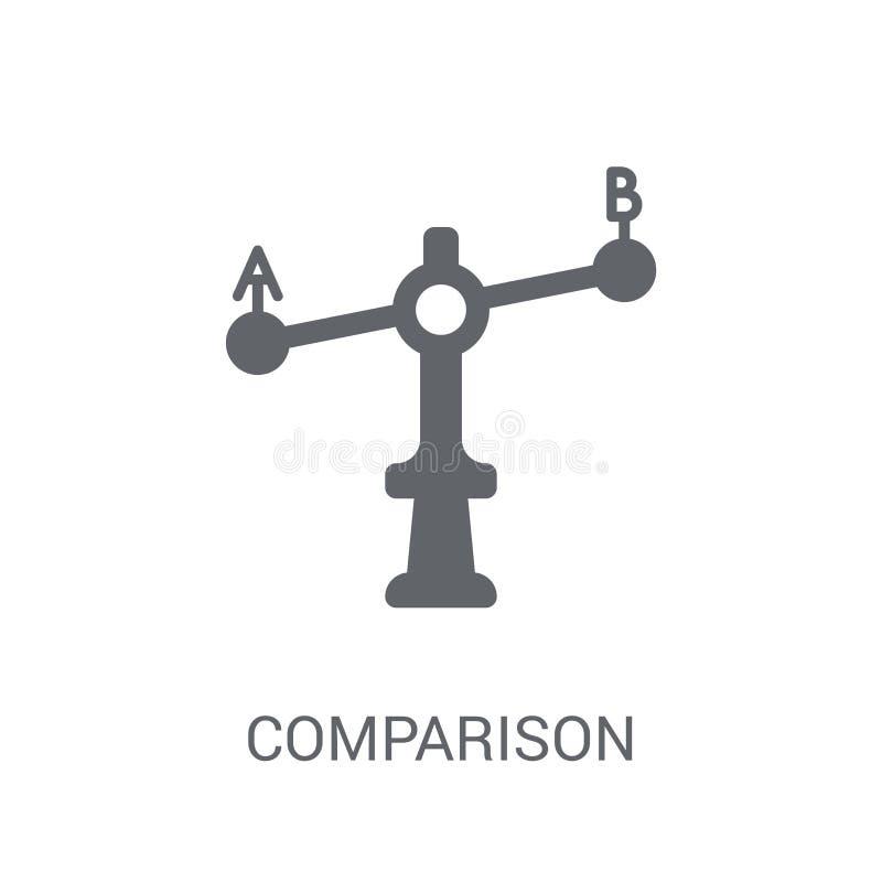 Porównanie ikona Modny porównanie logo pojęcie na białym backgro ilustracja wektor