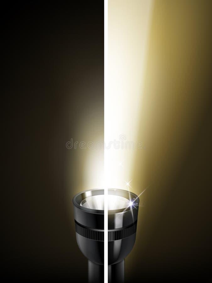 Porównanie latarka ilustracji
