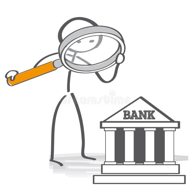 Porównuje Najlepszy banki ilustracja wektor