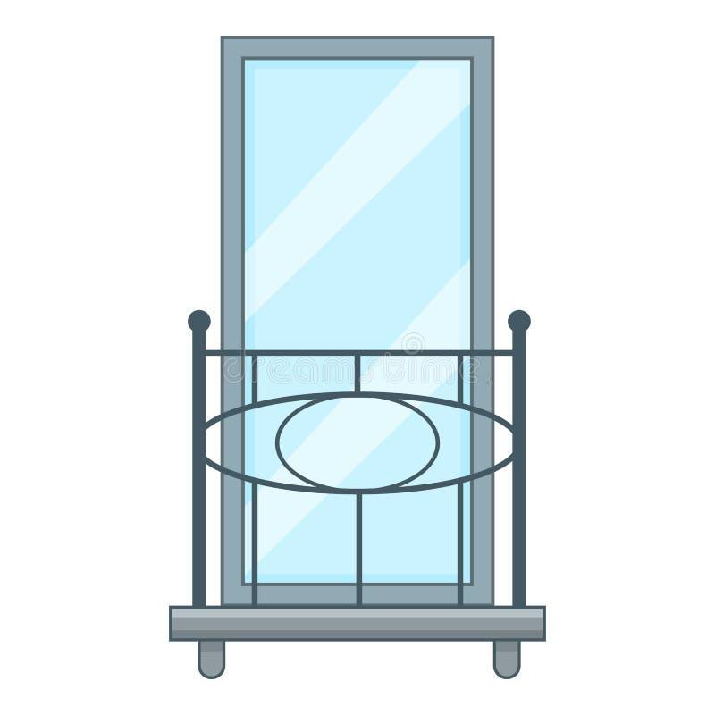 Poręcz balkonowa ikona, kreskówka styl royalty ilustracja