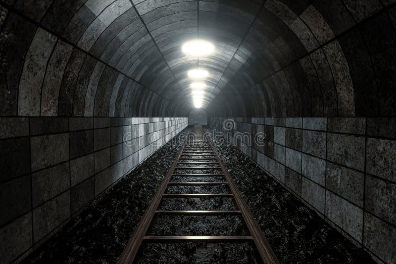 Poręcz w jamie, Perspektywiczny tło ilustracja wektor