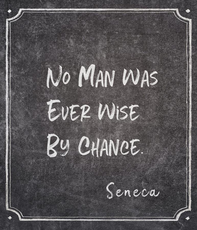 Por acaso citações do Seneca imagens de stock