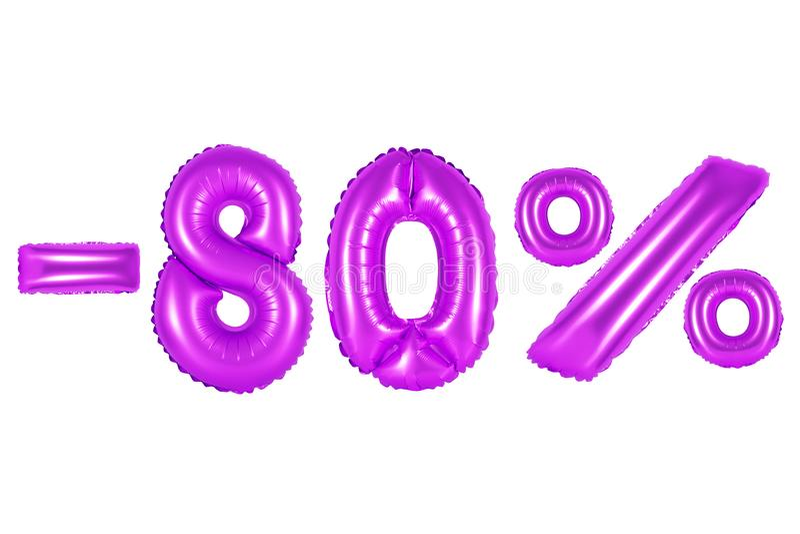 80 por cento, cor roxa fotos de stock