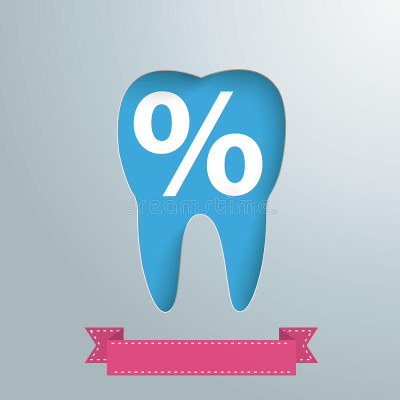 Por cento de prata do furo do dente do fundo ilustração stock