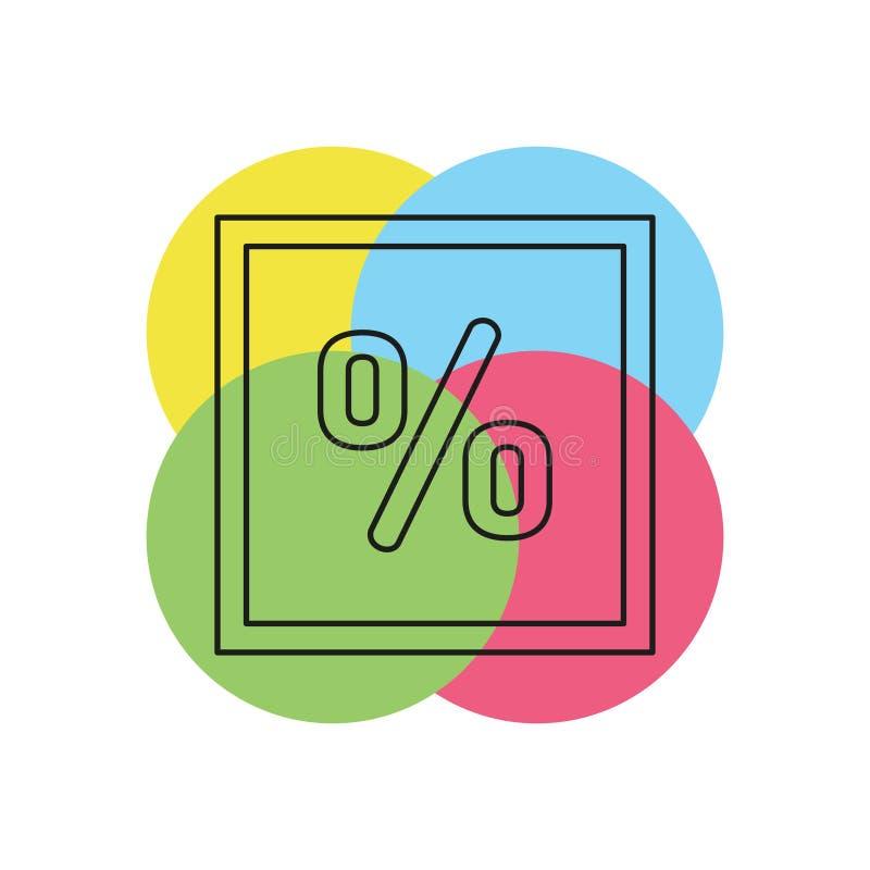 por cento do desconto da venda - vale das economias da oferta ilustração stock