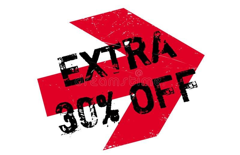 30 por cento extra fora do carimbo de borracha ilustração do vetor
