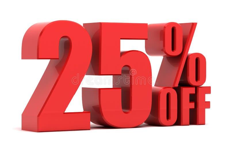 25 por cento fora da promoção ilustração do vetor