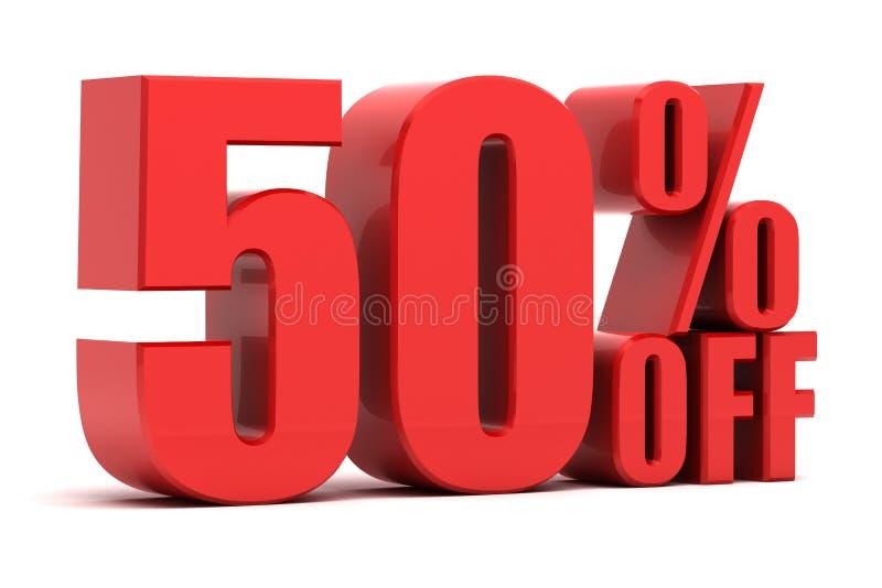 50 por cento fora da promoção ilustração do vetor