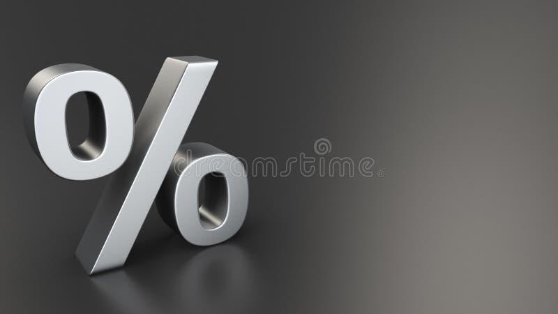Por cento no preto ilustração stock