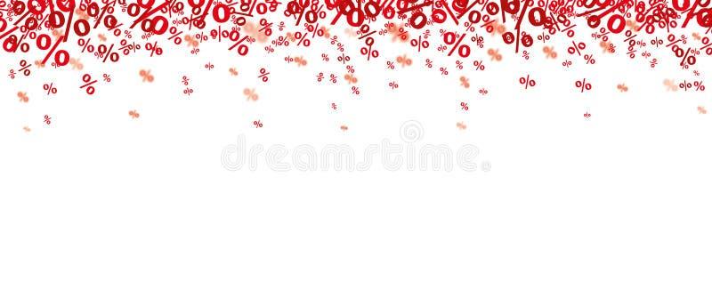 Por cento vermelhos dos confetes ilustração do vetor