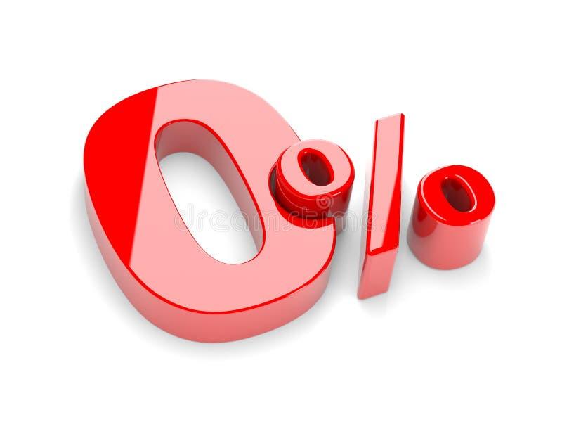 Por cento zero ilustração do vetor