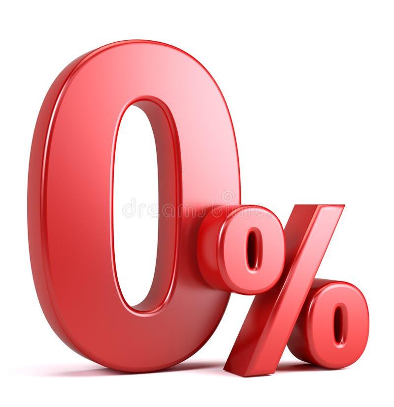 Por cento zero ilustração royalty free