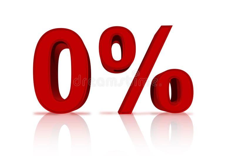 Por cento zero do financiamento ilustração stock