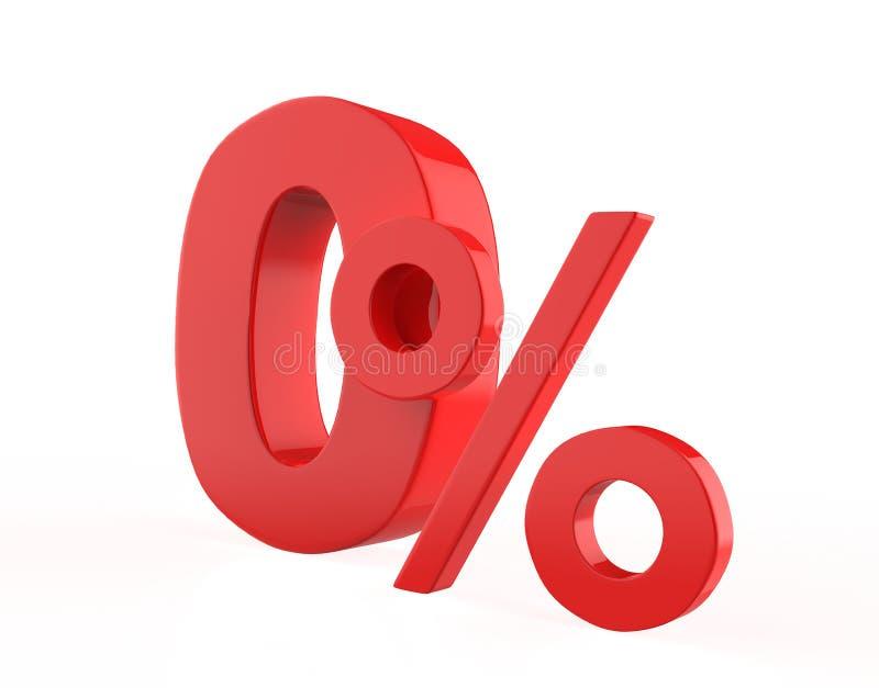 Por cento zero ilustração stock