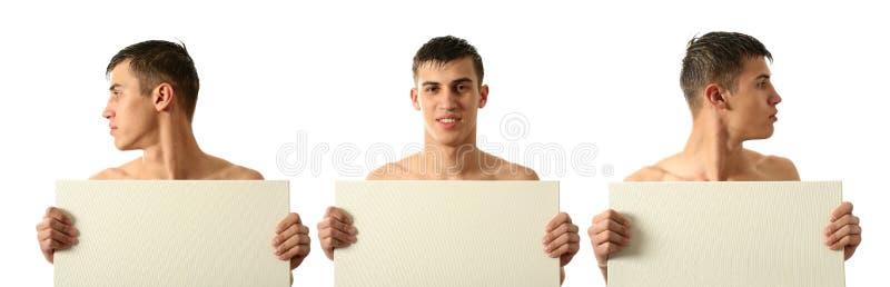 Por completo y medio hombre de la cara imagen de archivo libre de regalías